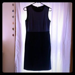 Lands End two tones blue dress, size 6